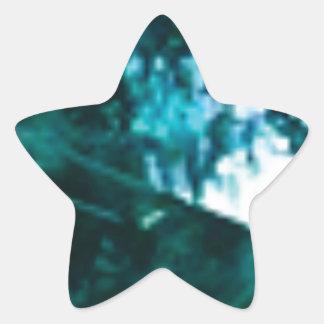 Sticker Étoile verre vert brisé