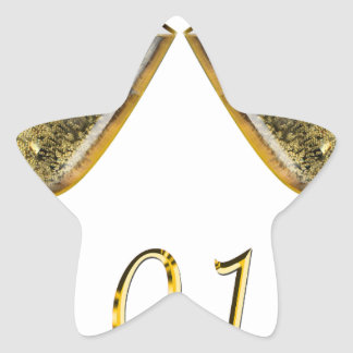 Sticker Étoile Verres 2018 de Champagne