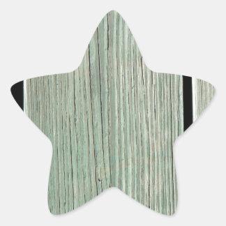Sticker Étoile Vert et passage couvert en bois de planche de