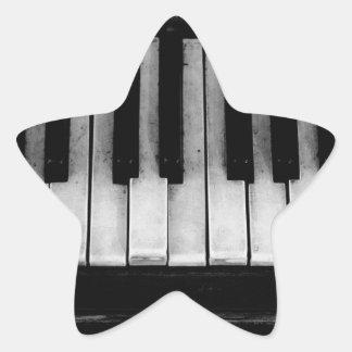 Sticker Étoile Vieille musique d'instrument de clavier de piano à