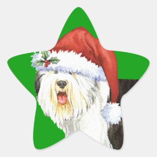 Sticker Étoile Vieux chien de berger anglais heureux de Howlidays