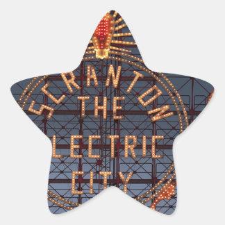 Sticker Étoile Ville électrique de Scranton