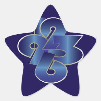 Sticker Étoile vingt-quatre heures sur vingt-quatre
