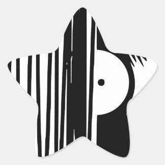 Sticker Étoile vinil de musique