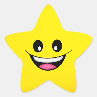 Sticker Étoile Visage souriant heureux