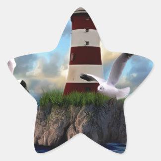 Sticker Étoile Voler d'oiseaux de phare