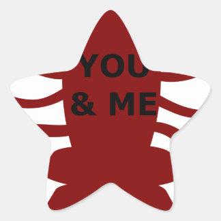 Sticker Étoile Vous et moi êtes des homards