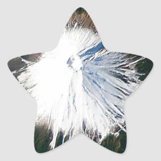 Sticker Étoile vue aérienne du mont Fuji