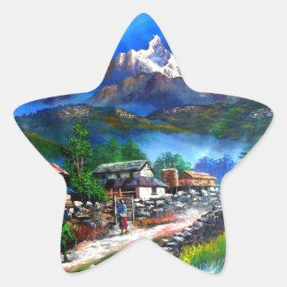 Sticker Étoile Vue panoramique de montagne Népal d'Everest