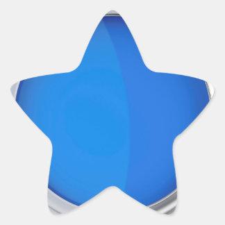 Sticker Étoile Vue supérieure de peinture bleue