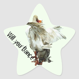 Sticker Étoile Will you Dance?