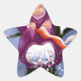 Sticker Étoile Winter Granny Grand-mère d'Inverno