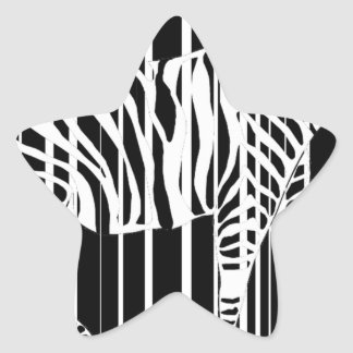 Sticker Étoile zebra-barre2xl
