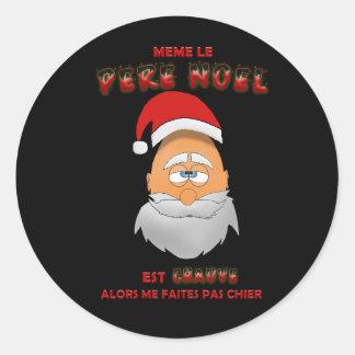 Sticker - Meme le Père Noël est chauve