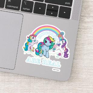 Sticker Mon petit rétro  Les licornes sont réelles
