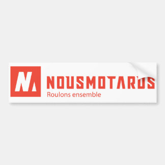 Sticker Nousmotards Rectangle Autocollant De Voiture