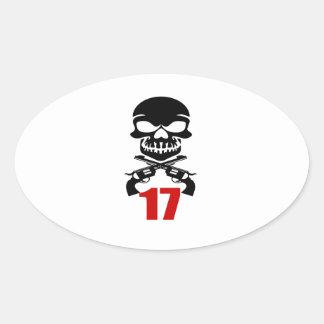 Sticker Ovale 17 conceptions d'anniversaire