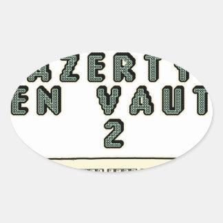 Sticker Ovale 1 GEEK AZERY en vaut 2 - Jeux de motsT