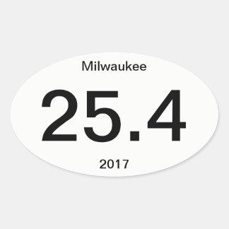Sticker Ovale 25,4 Marathon Milwaukee