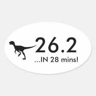 Sticker Ovale 26,2 Raptor