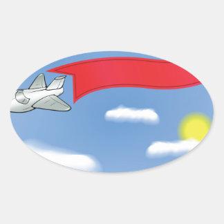 Sticker Ovale 73Plane Banner_rasterized