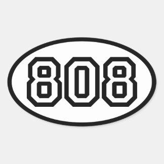 STICKER OVALE 808