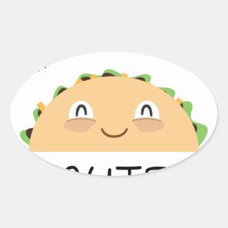 Sticker Ovale Accès de taco mignon