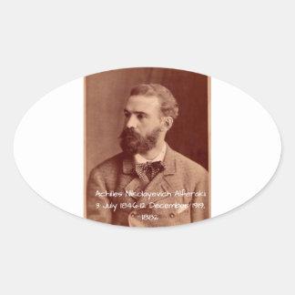 Sticker Ovale Achille Nikolayevich Alferaki