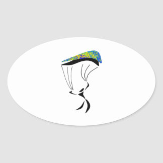 Sticker Ovale Aérodynamique
