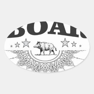 Sticker Ovale affaires de verrat ouais