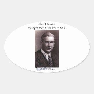 Sticker Ovale Albert Coates