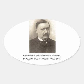 Sticker Ovale Alexandre Konstamtinovich Glazunov c1913