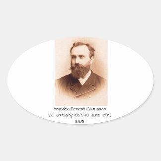 Sticker Ovale Amedee-Ernest Chausson