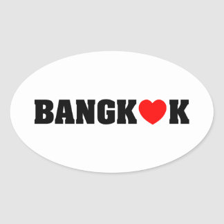 STICKER OVALE AMOUR DE BANGKOK
