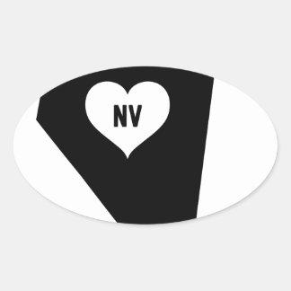 Sticker Ovale Amour du Nevada