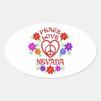Sticker Ovale Amour Nevada de paix
