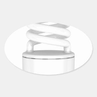 Sticker Ovale Ampoule fluorescente