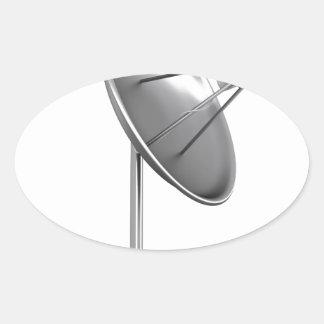 Sticker Ovale Antenne parabolique