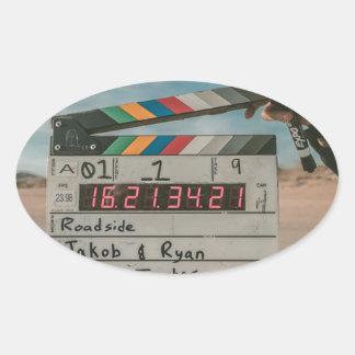 Sticker Ovale Appareil-photo de cinéma de film