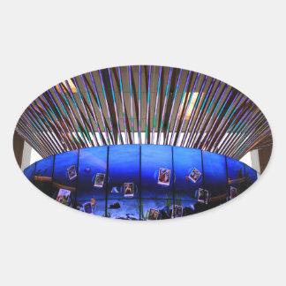 Sticker Ovale Arbre de Social d'aéroport de Singapour