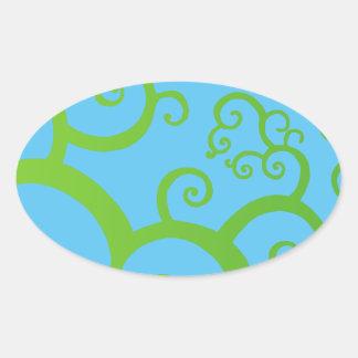 Sticker Ovale arbre des courbes