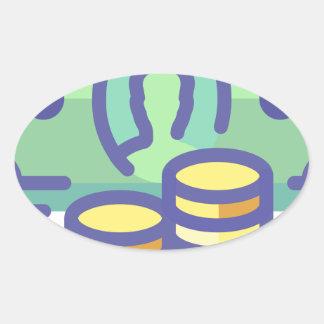 Sticker Ovale Argent d'économie