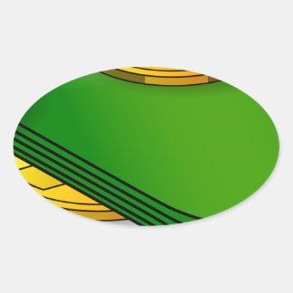 Sticker Ovale Argent et pièces de monnaie
