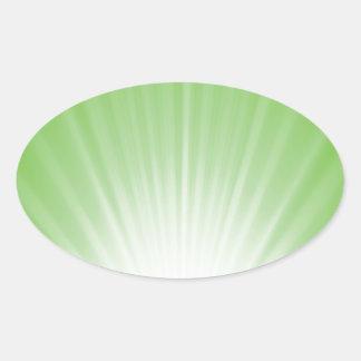 Sticker Ovale Arrière - plan vert