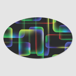 Sticker Ovale Arrière - plan vibrant
