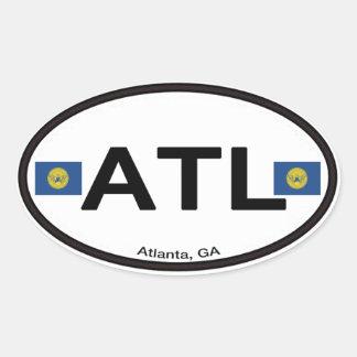 Sticker Ovale Atlanta ATL Euro-Ovale