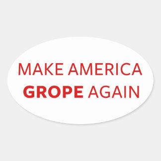 Sticker Ovale Atout : Faites l'Amérique chercher à tâtons encore