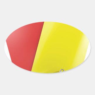 Sticker Ovale Attributs d'arbitre du football