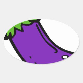 Sticker Ovale Aubergine