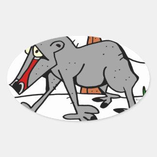 Sticker Ovale Babouin par Lorenzo